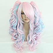 Mujer Pelucas sintéticas Rizado Ondulado Ondulado Natural Ondulado Amplio Ondulado Medio Rubia Arco iris Peluca de cosplay Peluca de