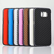 matte veving korn mønster plastdeksel for Samsung Galaxy s6 kanten