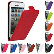 Etui Til iPhone 5 Apple Etui iPhone 5 Flipp Heldekkende etui Helfarge Hard PU Leather til iPhone SE/5s iPhone 5