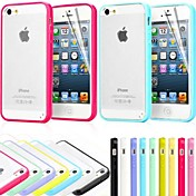 Para Funda iPhone 5 Congelada Funda Cubierta Trasera Funda Un Color Dura Policarbonato iPhone SE/5s/5