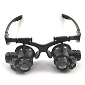 Binoculares Lupas Alta Definición Auricular y Micrófono Genérico 10X / 15X / 20X / 25X 15mm El plastico
