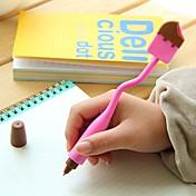 Bolígrafo Bolígrafo Bolígrafos Bolígrafo,Silicona Barril Negro colores de tinta For Suministros de la escuela Material de oficina Paquete