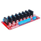 ocho para relé de estado sólido Arduino (rojo)
