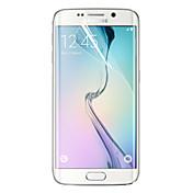 Protector de pantalla Samsung Galaxy para S6 edge PET Protector de Pantalla Frontal Alta definición (HD)