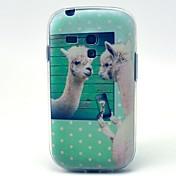 Para Funda Samsung Galaxy Diseños Funda Cubierta Trasera Funda Animal TPU Samsung S3 Mini