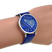 Reloj Casual Cuarzo Banda Heart Shape Negro Azul Oscuro Morado Rosa Azul