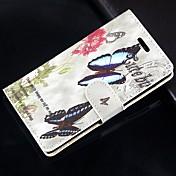 Funda Para Samsung Galaxy Samsung Galaxy Note Soporte de Coche Cartera con Soporte Flip Funda de Cuerpo Entero Mariposa Cuero de PU para