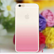 Para iPhone X iPhone 8 iPhone 8 Plus iPhone 6 iPhone 6 Plus Carcasa Funda Transparente Cubierta Trasera Funda Gradiente de Color Suave TPU