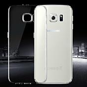 Funda Para Samsung Galaxy Funda Samsung Galaxy Ultrafina Transparente Funda Trasera Color sólido TPU para S6