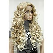 Syntetiske parykker Blond Syntetisk hår Ombre-hår / Side del Blond Parykk Lang