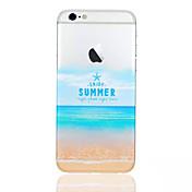 해변 패턴 전화 쉘 얇은 TPU 아이폰 기가을위한 재료 플러스 / 6 플러스