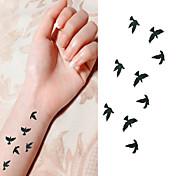 Tatuajes Adhesivos - Non Toxic/Parte Lumbar/Waterproof - Series de Animal - Bebé/Niños/Mujer/Hombre/Adulto/Juventud -