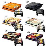 una pieza& combo de dibujos animados de la piel flexible para consola de juegos PS4& 2 pieles controlador de juego PS4