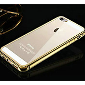 marca kx versión dorada de metal marco de acrílico estuche rígido plano posterior de metal transparente para el iphone 5 / 5s (colores
