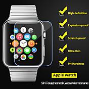 beittal® 0,26 mm borde redondeado 9h cristal transparente endurecido protector de pantalla para el reloj de manzana (38 de 42 mm)