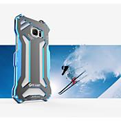 Para Funda Samsung Galaxy Carcasa Funda Antigolpes Cubierta Trasera Funda Armadura Metal para Samsung S6