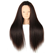 yaki salón de pelo sintético maniquí femenino cabeza sin maquillaje