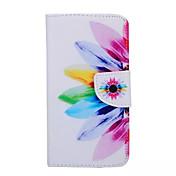 Para Funda Samsung Galaxy Cartera / Soporte de Coche / con Soporte / Flip Funda Cuerpo Entero Funda Flor Cuero Sintético Samsung S6 edge