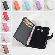 용 모토로라 케이스 지갑 / 카드 홀더 / 스탠드 / 플립 케이스 풀 바디 케이스 단색 하드 인조 가죽 Motorola