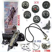 보석류 배지 에서 영감을 받다 어쌔신 Ezio 아니메/비디오게임 코스프레 악세서리 목걸이 장갑 배지 브로치 합금 남성