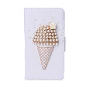 아이스크림 모조 다이아몬드 PU 가죽 삼성 핵심 주요 g3608 및 다른 모델의 스탠드 화이트 케이스