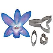 fire-c dendrobium orchid petal blomst cutter, kake dekorere verktøy fondant mold cutter cookie tilbehør verktøy