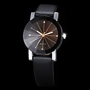 Pareja Cuarzo Reloj de Pulsera Creativo / La imitación de diamante PU Banda Moda Negro