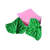 forma de la hoja de pasta de azúcar del molde de la decoración de la torta del molde