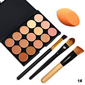 15 Corrector/Contour Pinceles de Maquillaje Rostro