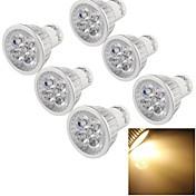 4W GU10 Focos LED MR16 4 leds LED de Alta Potencia Decorativa Blanco Cálido 300-350lm 3000K AC 100-240V