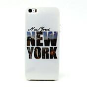 Para Funda iPhone 5 Carcasa Funda Diseños Cubierta Trasera Funda Palabra / Frase Suave TPU para iPhone SE/5s iPhone 5