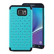 Para Samsung Galaxy Note Antigolpes / Diamantes Sintéticos Funda Cubierta Trasera Funda Diseño Geométrico Policarbonato Samsung Note 5