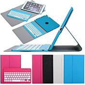 Para Carcasa Funda con Soporte con Teclado Flip Rotación 360º Cuerpo Entero Funda Color sólido Dura Cuero Sintético para iPad Air 2
