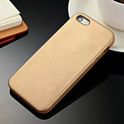 Funda Para iPhone 5 Apple Funda iPhone 5 Other Funda Trasera Color sólido Dura Cuero de PU para iPhone SE/5s iPhone 5