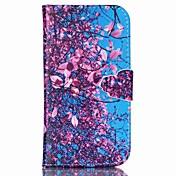 Etui Til Samsung Galaxy Samsung Galaxy Etui Lommebok / Kortholder / med stativ Heldekkende etui Blomsternål i krystall PU Leather til S6 edge plus / S6 / S5 Mini