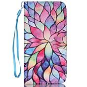 Etui Til Apple iPhone 8 / iPhone 8 Plus / iPhone 7 Lommebok / Kortholder / med stativ Heldekkende etui Blomsternål i krystall Hard PU Leather til iPhone 8 Plus / iPhone 8 / iPhone 7 Plus