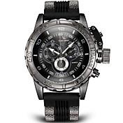 V6 Hombre Cuarzo Cuarzo Japonés Reloj de Pulsera Reloj Militar Con regla Silicona Banda Encanto Negro Blanco Azul Gris