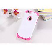 7 para el iphone plástico y diseño de color de doble material de silicona para el iPhone 6 / 6s