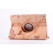 Etui Til Apple iPad iPad Mini 3/2/1 med stativ Origami 360° rotasjon Heldekkende etui Landskap Hard PU Leather til Apple iPad iPad Mini