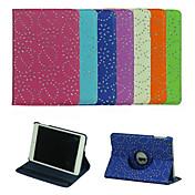 Etui Til iPad Mini 3/2/1 med stativ Origami 360° rotasjon Heldekkende etui Flise PU Leather til iPad Mini 3/2/1