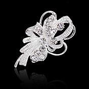 Dame Nåler Blomster Akryl Diamond Mote Krystall Fuskediamant Blomst Smykker Til Bryllup Fest