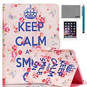Etui Til iPad Air med stativ Mønster Heldekkende etui Ord / setning PU Leather til iPad Air