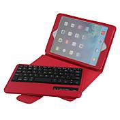 høykvalitets lær flip sammenleggbar sak bluetooth tastatur for iPad mini 4 7.9 tommer (assorterte farger)