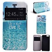la vida en la portada de cuerpo completo mar modelo pu cuero con soporte para el iphone 6 más / 6s iphone plus