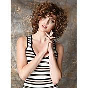 Pelucas sintéticas Rizado / Kinky Curly Pelo sintético Peluca Mujer Corta Sin Tapa
