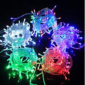 100 LED Blanco Cálido Morado Verde Azul Recargable Impermeable Color variable AC100-240 AC 100-240V