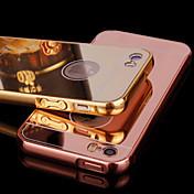Funda Para iPhone 5 Apple Funda iPhone 5 Cromado Espejo Funda Trasera Color sólido Dura Acrílico para iPhone SE/5s