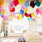 100pcs birthday festival bryllup perle runde ballonger 1,3g