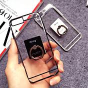 용 아이폰6케이스 / 아이폰6플러스 케이스 스탠드 / 링 홀더 / 투명 케이스 뒷면 커버 케이스 단색 소프트 TPU iPhone 6s Plus/6 Plus / iPhone 6s/6