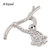 여성 은 도금 유리 모조 다이아몬드 합금 패션 실버 보석류 결혼식 파티 일상 캐쥬얼